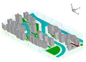 Phoenics_--室外风环境分析和室内通风模拟